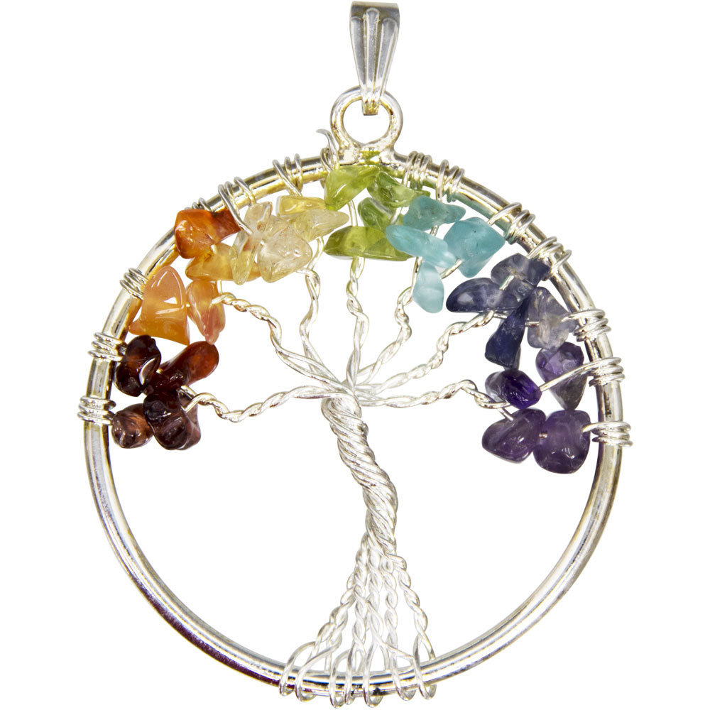 Chakras Tree of Life Pendant - New Moon Cottage 368777394