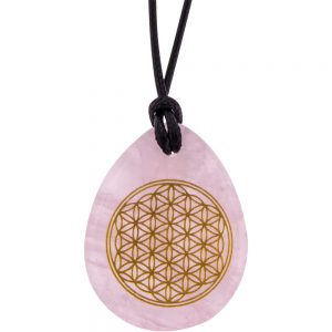 Flower of Life Gemstone Pendants